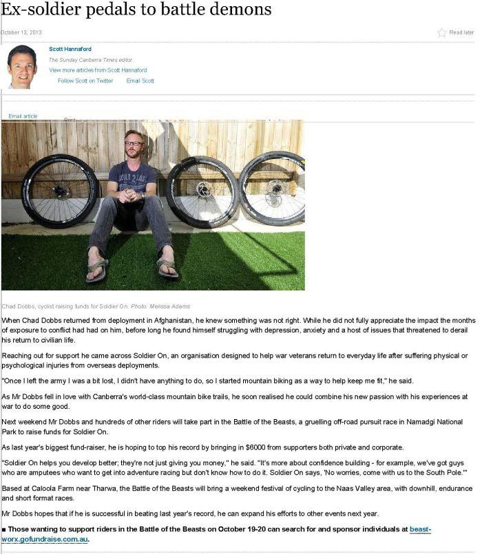 CanberraTimes Article